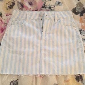 Dresses & Skirts - Pacsun Blue and White Stripe Skirt